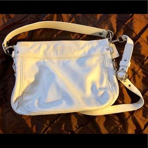 Beige/Cream Colored Coach Handbag